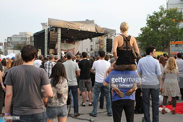 A general view of atmosphere during the 2011 Northside Music Festival at McCarren Park on June 18 2011 in New York City