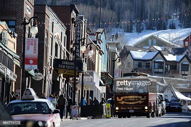 A general view of atmosphere during the 2014 Sundance Film Festival on January 23 2014 in Park City Utah