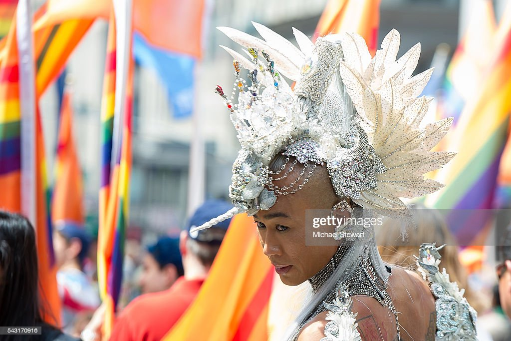 A general view of atmosphere during the 2016 Pride March on June 26, 2016 in New York City.