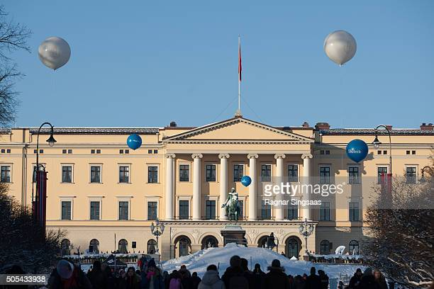 A general view of atmosphere during the 25th anniversary of King Harald V and Queen Sonja of Norway as monarchs on January 17 2016 in Oslo Norway