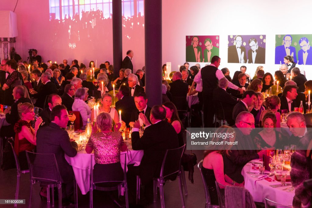 A general view of atmosphere during the 30th edition of 'La Nuit Des Neiges' Charity Gala on February 16, 2013 in Crans-Montana, Switzerland.