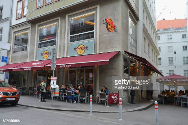 A general view of atmosphere during the 3rd birthday party of the Hard Rock Cafe on August 6 2017 in Vienna