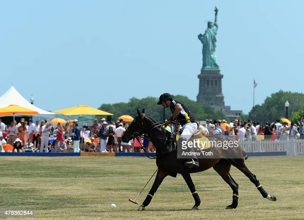A general view of atmosphere during the 8th annual Veuve Clicquot Polo Classic at Liberty State Park on May 30 2015 in Jersey City New Jersey