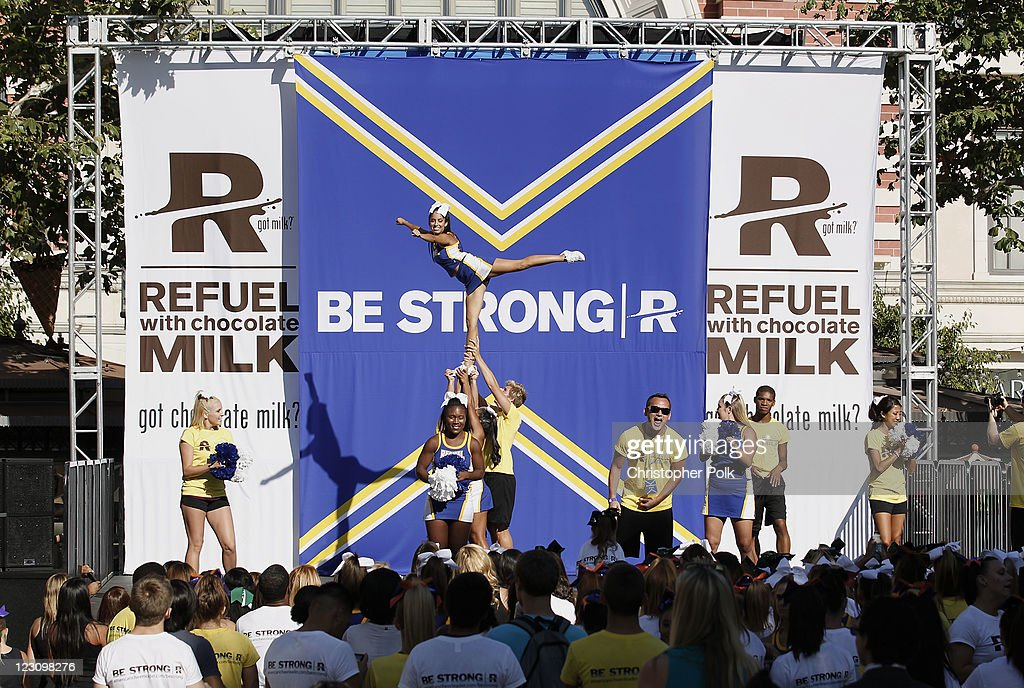 A general view of atmosphere during the 'Be Strong' Challenge with Ashley Tisdale held at The Grove on August 30, 2011 in Los Angeles, California.