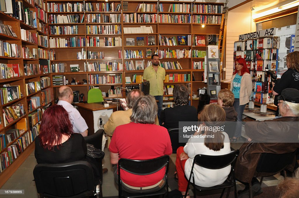 A general view of atmosphere during the book presentation 'Schlimmer geht's immer' at Buchhandlung Quellenplatz on May 2, 2013 in Vienna, Austria.