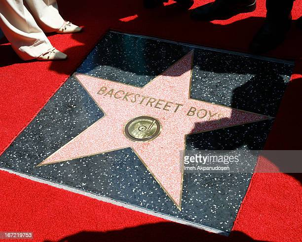 A general view of atmosphere during the ceremony honoring the Backstreet Boys with a star on The Hollywood Walk of Fame held on April 22 2013 in...