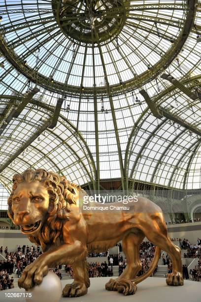 A general view of atmosphere during the Chanel show as part of the Paris Haute Couture Fashion Week Fall/Winter 2011 at Grand Palais on July 6 2010...