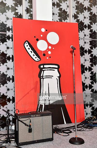 A general view of atmosphere during The CocaCola Bottle An American Icon at 100 exhibition at the High Museum of Art on February 26 2015 in Atlanta...
