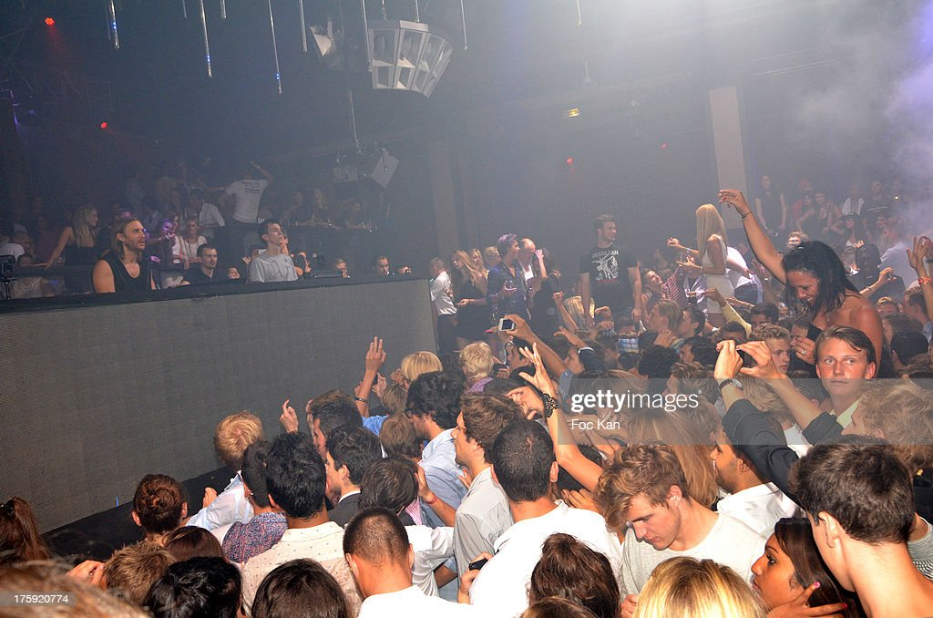A general view of atmosphere during the David Guetta Party at The Gotha Club on August 3, 2013 in Saint Tropez, France.
