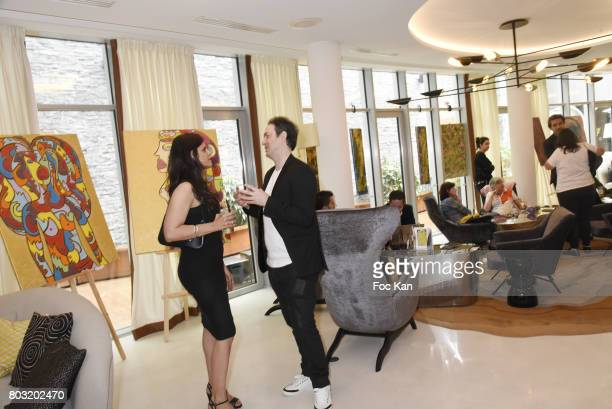 A general view of atmosphere during the Dimensions Lee Michel Exhibition Preview at Hotel Rennaissance on June 28 2017 in Paris France