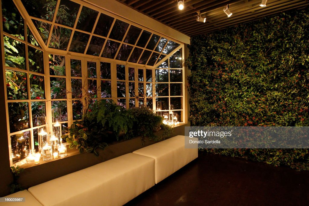 A general view of atmosphere during the Ferragamo presentation Spring Summer Runway Collection with VIP dinner, hosted by Jacqui Getty and Harpers BAZAAR at Chateau Marmont on January 24, 2013 in Los Angeles, California.