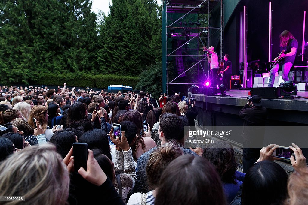 A general view of atmosphere during The Fray on stage performance at Malkin Bowl at Stanley Park on June 18, 2014 in Vancouver, Canada.