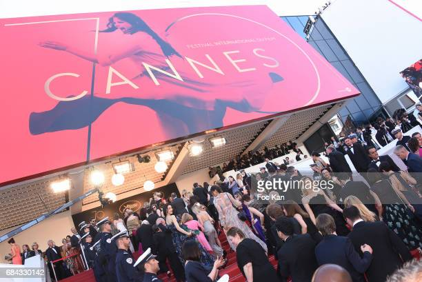 A general view of atmosphere during the 'Ismael's Ghosts ' screening and Opening Gala during the 70th annual Cannes Film Festival at Palais des...
