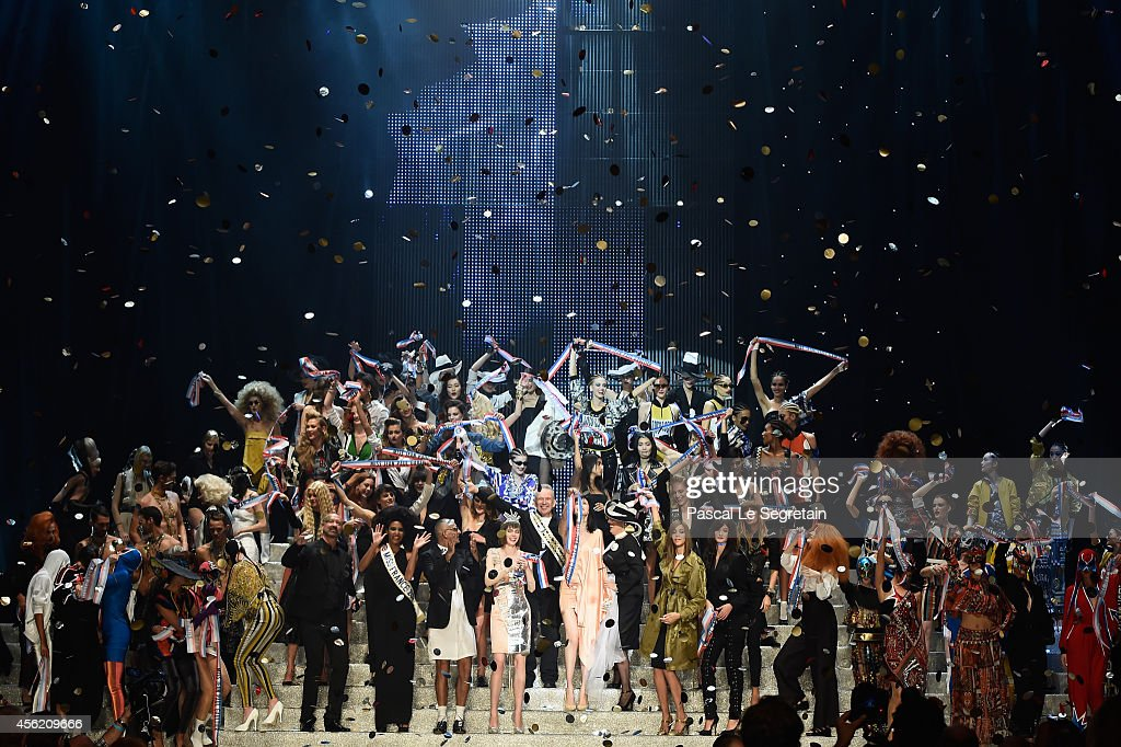 A general view of atmosphere during the Jean Paul Gaultier show as part of the Paris Fashion Week Womenswear Spring/Summer 2015 on September 27 2014...