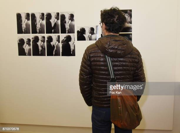 A general view of atmosphere during the Larry Clark and Jonathan Velasquez Photo Exhibition at Galerie Rue Andre Antoine Exhibition as part of Larry...