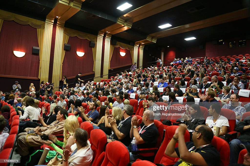 A general view of atmosphere during the Marvel OneShot Comic Con screening on July 19 2013 in San Diego California