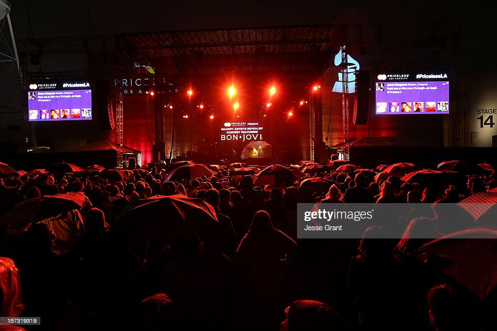 A general view of atmosphere during the MasterCard Priceless Los Angeles Presents GRAMMY Artists Revealed Featuring Bon Jovi at Paramount Studios on December 1, 2012 in Hollywood, California.