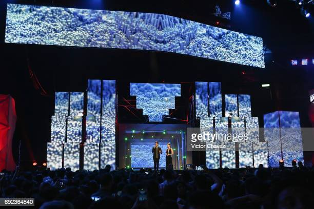 A general view of atmosphere during the MTV MIAW Awards 2017 at Palacio de Los Deportes on June 3 2017 in Mexico City Mexico