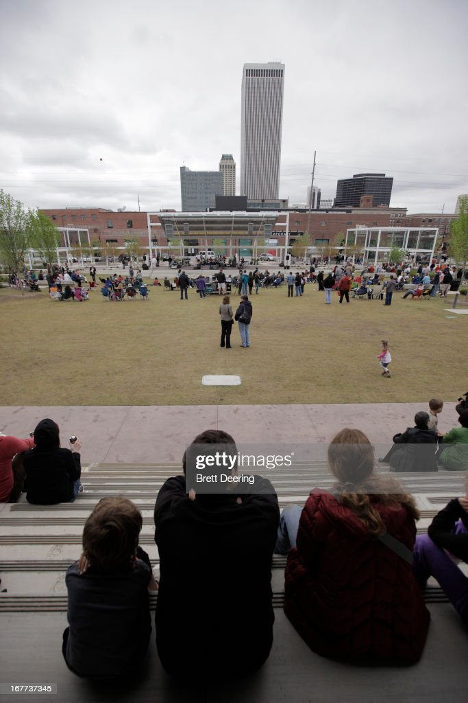 A general view of atmosphere during the opening ceremony for the Woody Guthrie Center on April 27, 2013 in Tulsa, Oklahoma.