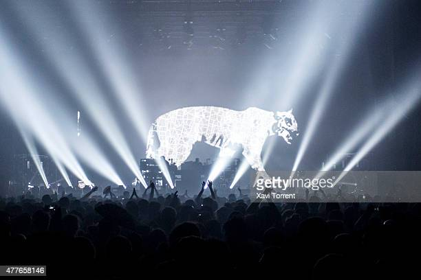 General view of atmosphere during the opening concert of Chemical Brothers on day 1 of Sonar Music Festival on June 18 2015 in Barcelona Spain