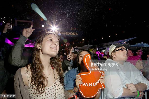 A general view of atmosphere during the PANDORA Discovery Den SXSW on March 20 2015 in Austin Texas