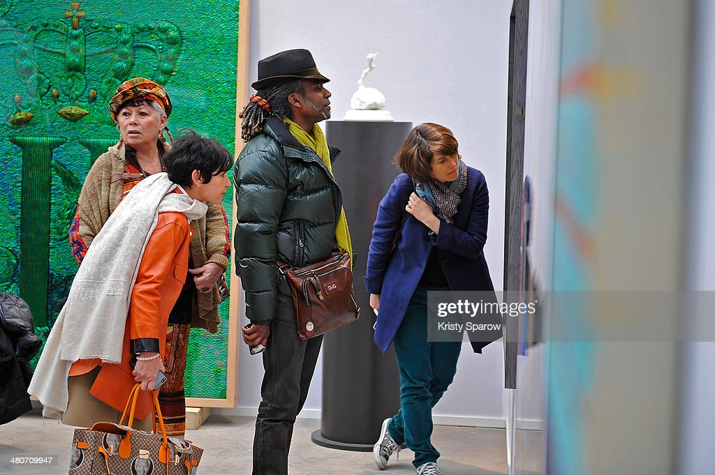 A general view of atmosphere during the Paris Art Fair at Le Grand Palais on March 26, 2014 in Paris, France.