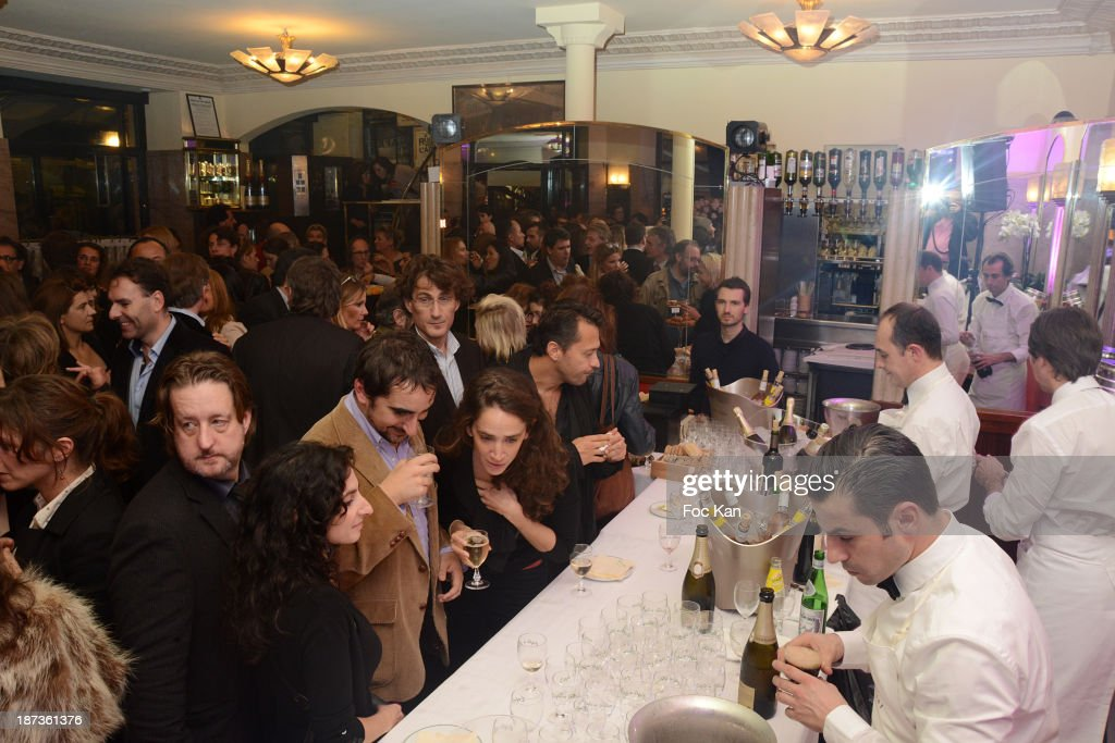 A general view of atmosphere during the Prix de Flore 2013' : Ceremony Cocktail At Cafe De Flore on November 7, 2013 in Paris, France.