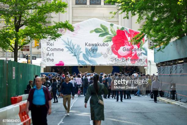 A general view of atmosphere during the 'Rei Kawakubo/Comme des Garcons Art Of The InBetween' Costume Institute Gala at Metropolitan Museum of Art on...