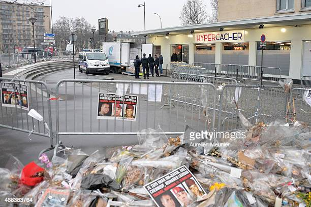 A general view of atmosphere during the reopening of Kosher supermarket Hyper Cacher which was place of a terrorist attack earlier this year on March...