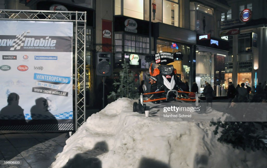 A general view of atmosphere during the Swatch Snow Mobile 2012 press conference at Graben on November 22, 2012 in Vienna, Austria.