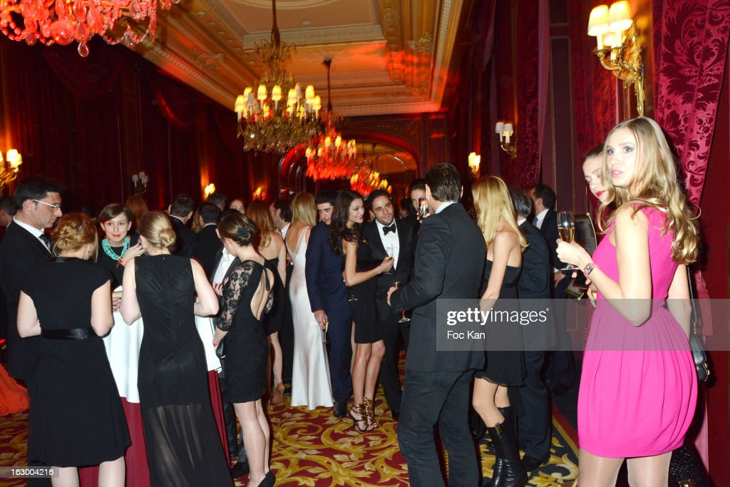 A general View of atmosphere during the the 'Don't Tell My Booker' Supports La Croix Rouge Dinner - PFW F/W 2013 at the Hotel Intercontinental on March 2nd, 2013 in Paris, France.