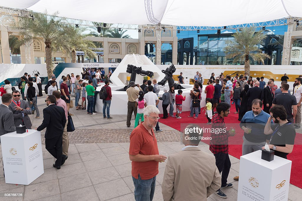 General view of atmosphere during The UAE AI & Robotics Award for Good at Dubai Internet City on February 6, 2016 in Dubai, United Arab Emirates where the winners of the USD 1 million international competition and the AED 1 million national competition will be announced.