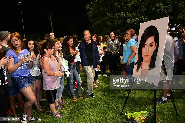 A general view of atmosphere during the Vigil For Cristina Grimmie at Evesham Memorial Complex on June 13 2016 in Evesham New Jersey