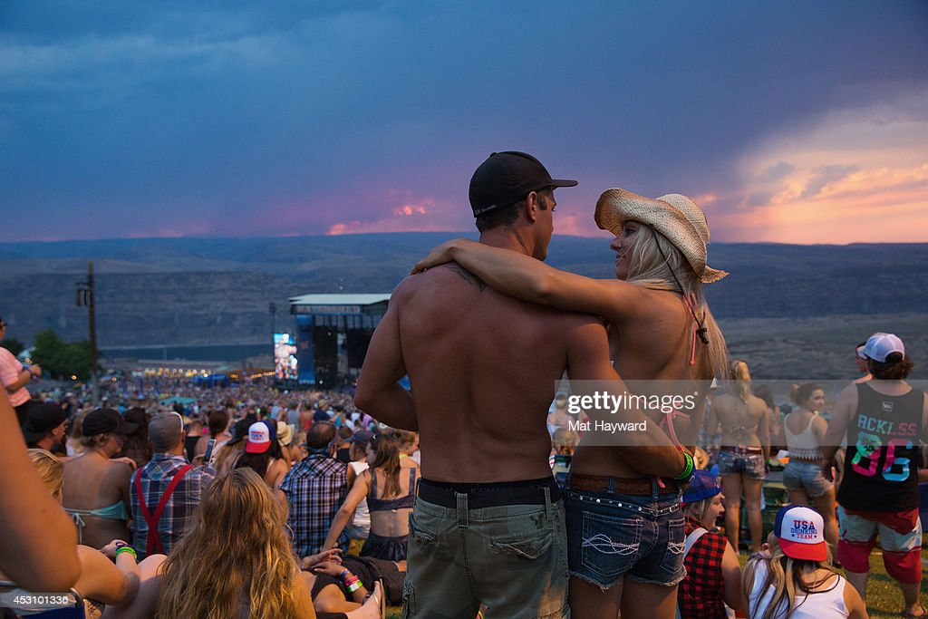 General view of atmosphere during the Watershed Music Festival at The Gorge on August 2, 2014 in George, Washington.