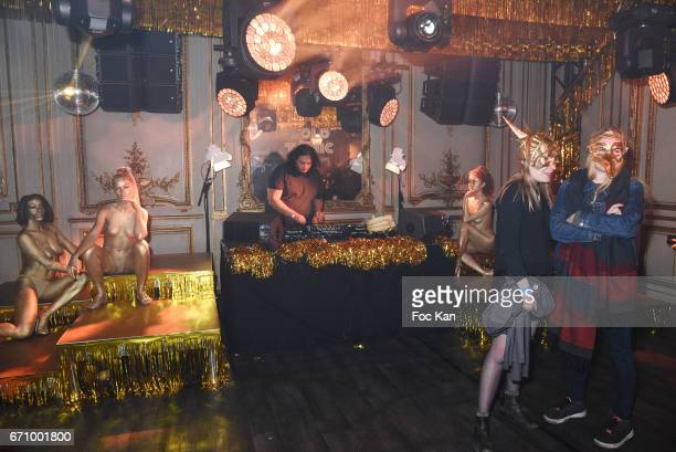A general view of atmosphere during 'Tonic Follies' Villa Schweppes Before Cannes Festival Party at Foundation Mona Bismarck on April 20 2017 in...