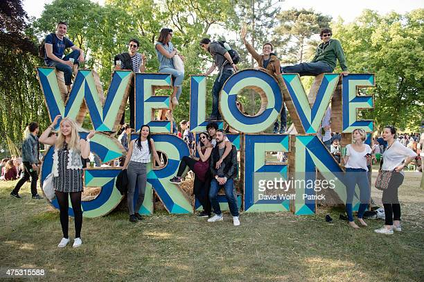 General view of atmosphere from We Love Green Festival on May 30 2015 in Paris France