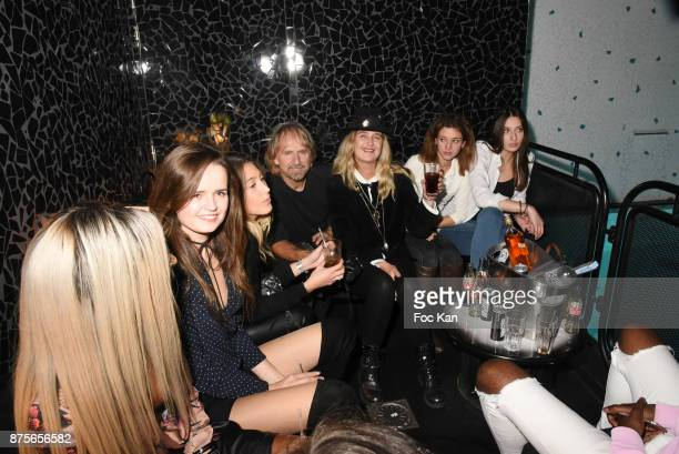 A general view of atmosphere in the swimming pool lounge during 'Le Temps Retrouve' Party at Les Bains on November 17 2017 in Paris France