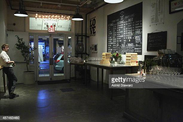 A general view of atmosphere including Toblerone chocolate bars at Girl And The Bull A Dinner hosted by Stephanie Izard and Ken Oringer as a part of...