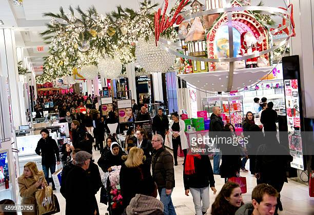 General view of atmosphere inside Macy's department store on December 4 2014 in New York City