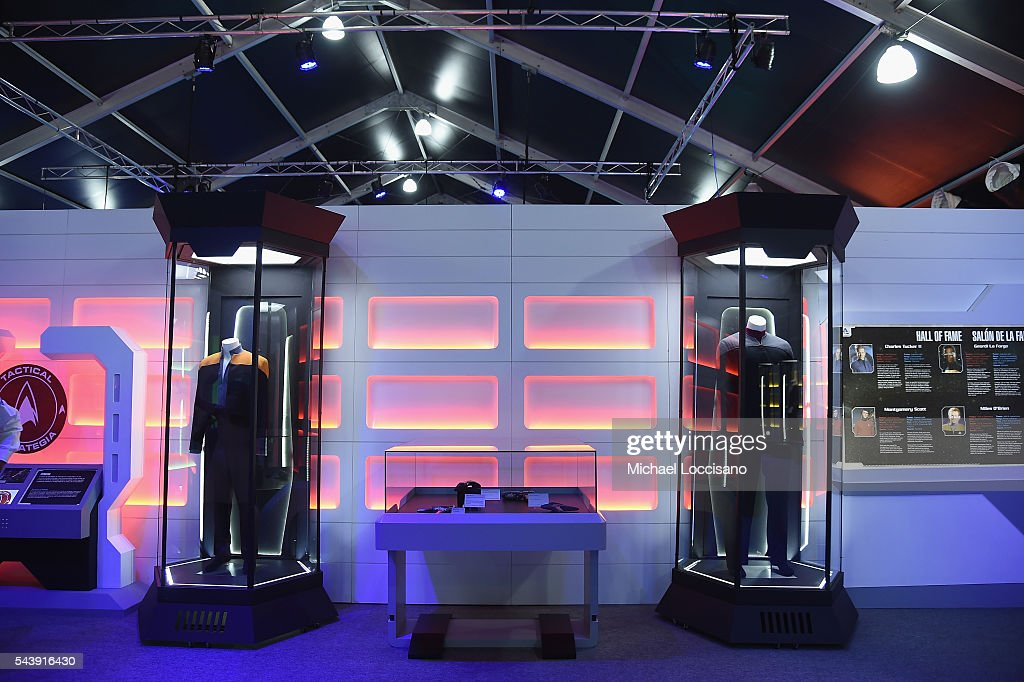 General view of atmosphere inside the Star Trek: The Star Fleet Academy Experience Preview at Intrepid Sea-Air-Space Museum on June 30, 2016 in New York City.