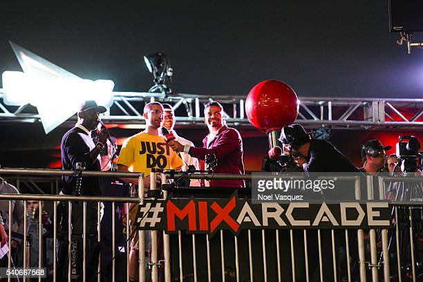 General view of atmosphere is displayed at Doritos #MixArcade Day 2 at LA LIVE on June 15 2016 in Los Angeles California