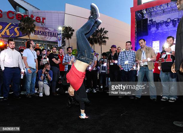 General view of atmosphere is displayed at Doritos #MixArcade Day 3 at LA LIVE on June 16 2016 in Los Angeles California