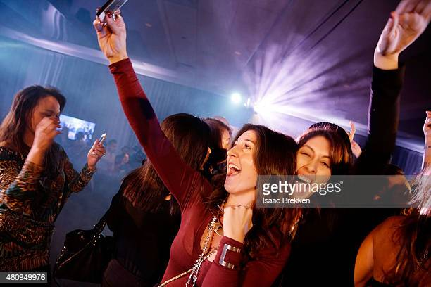 A general view of atmosphere is pictured during a New Year's Eve celebration at Foxtail nightclub at SLS Las Vegas on January 1 2015 in Las Vegas...
