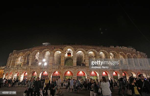A general view of atmosphere is pictured during the Intimissimi on Ice OperaPop at the Arena di Verona on September 20 2014 in Verona Italy The world...