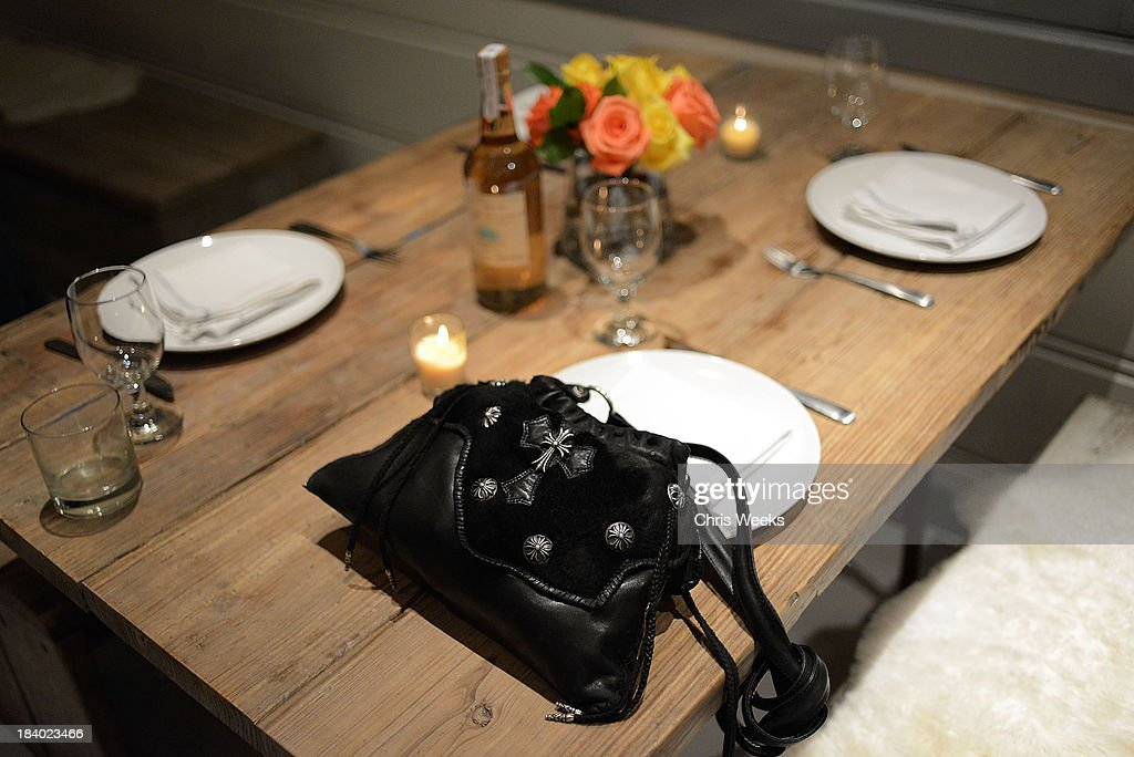 A general view of atmosphere is seen at a dinner for Gareth Pugh hosted by Chrome Hearts at Malibu Farm on October 10, 2013 in Malibu, California.