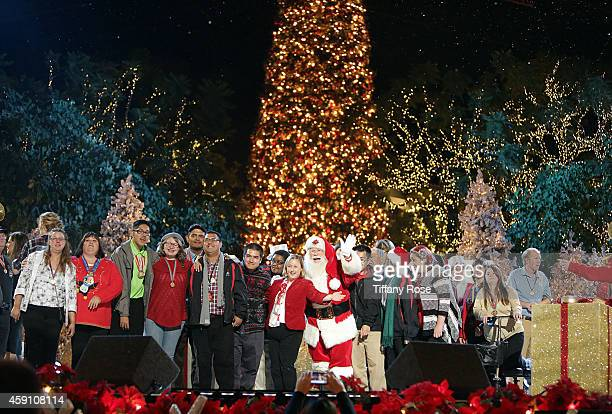 A general view of atmosphere is seen at The Grove's 12th Annual Christmas Tree Lighting Spectacular Presented By Citi at The Grove on November 16...