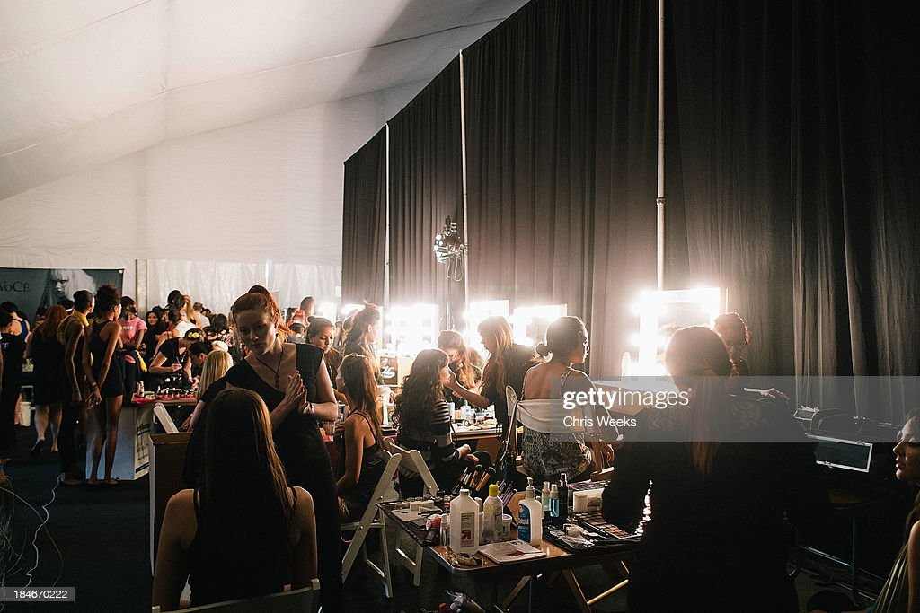 A general view of atmosphere is seen at the Octavio Carlin Spring 2014 collection show at Style Fashion Week on October 14, 2013 in Los Angeles, California.