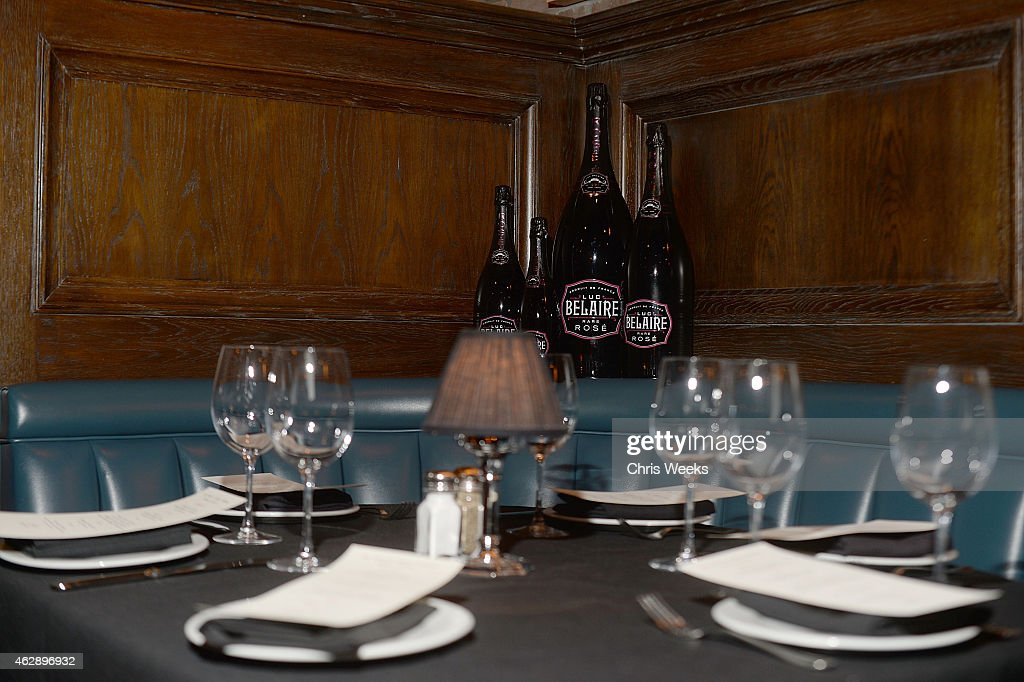 A general view of atmosphere is seen at the LA Reid and Epic Grammy Celebration presented By Luc Belaire at Craig's Restaurant on February 6 2015 in...