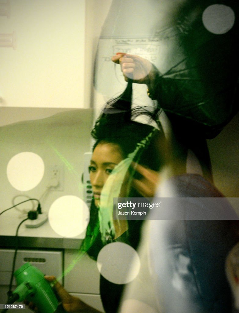 A general view of atmosphere is seen backstage during the Lisa Perry spring 2013 presentation during Mercedes-Benz Fashion Week on September 5, 2012 in New York City.
