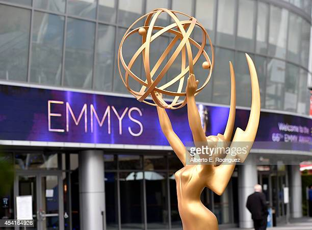A general view of atmosphere is seen during the 66th Annual Primetime Emmy Awards held at the Nokia Theatre LA Live on August 25 2014 in Los Angeles...